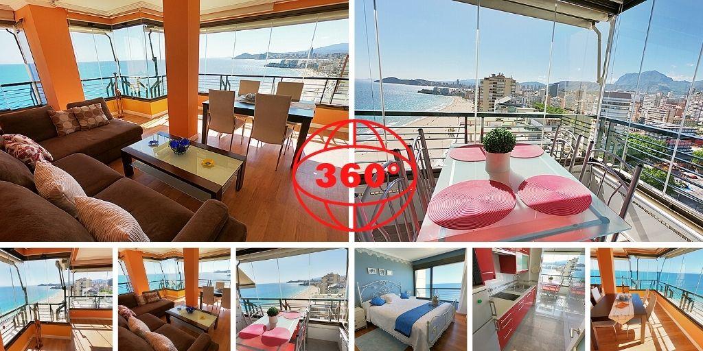 Tour 360, First line Apartment , Benidorm, Spain