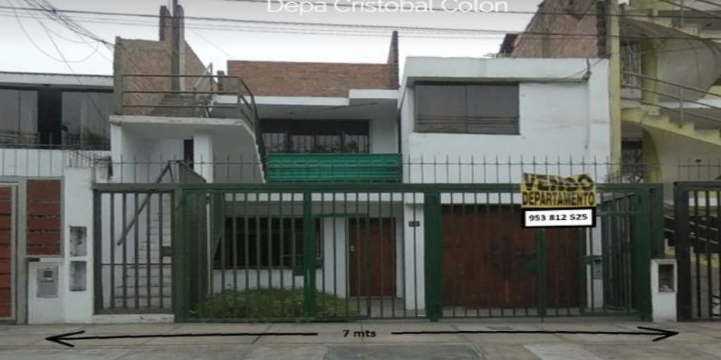 Departamento Calle Cristobal Colón